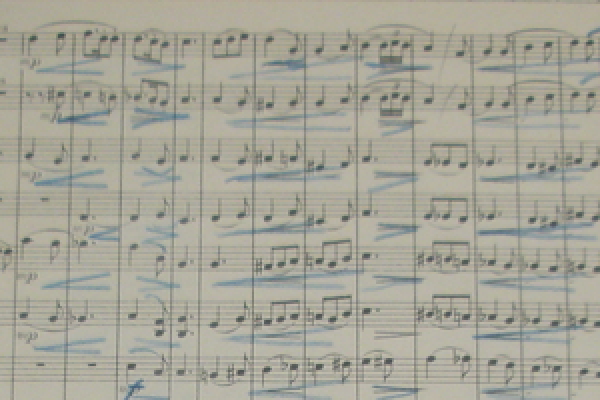 Thomas Beecham's conductor annotations of the first printed edition of Brigg Fair